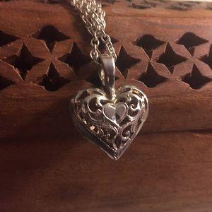 Vintage Reversible Puffed Heart
